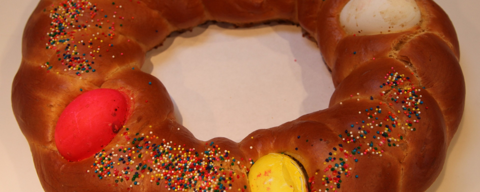 Tsoureki - Easter - Eggs - Bread - Between the Tines