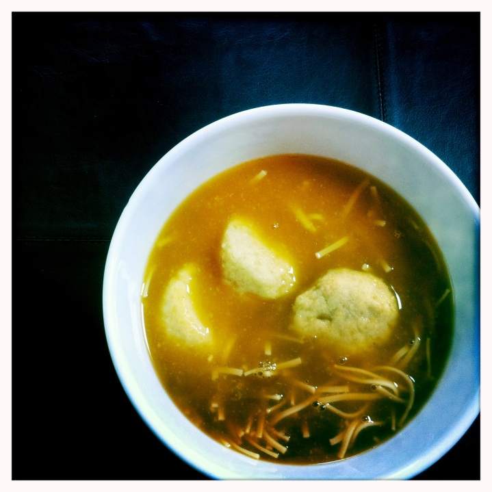 Grandma's Matzoh Ball Soup - Between the Tines - Passover