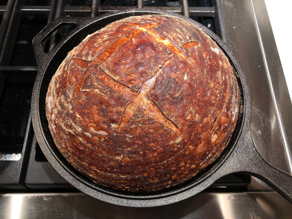 Sourdough Boule--just out of the oven / Chef Diana Andrews