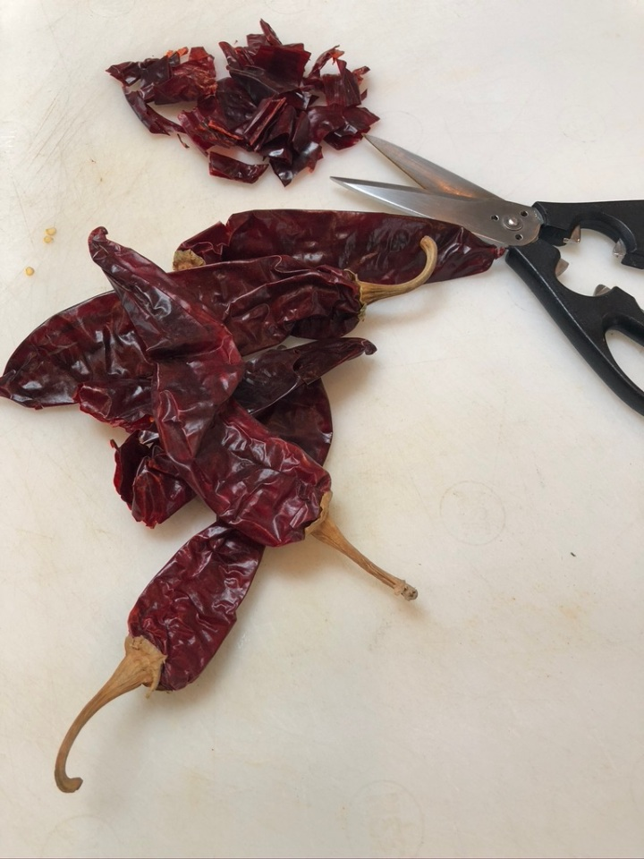 Seeding & Slicing Chiles