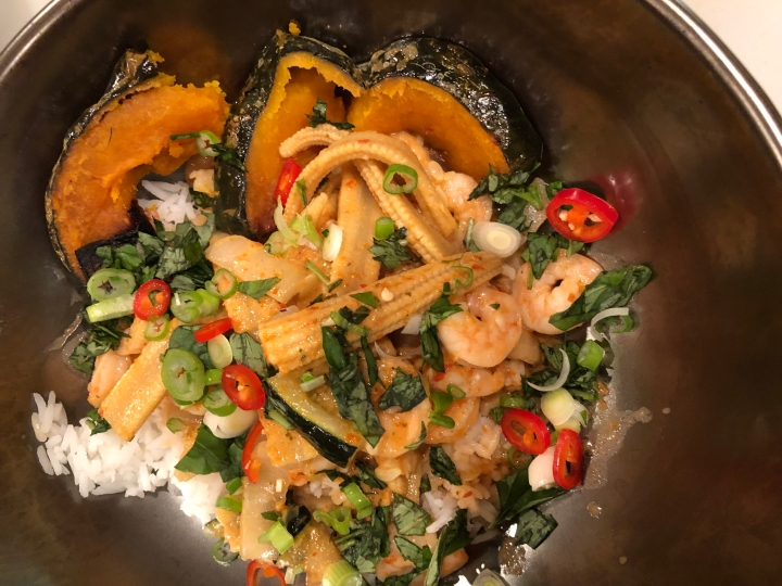 Red Curry with Shrimp and Vegetables