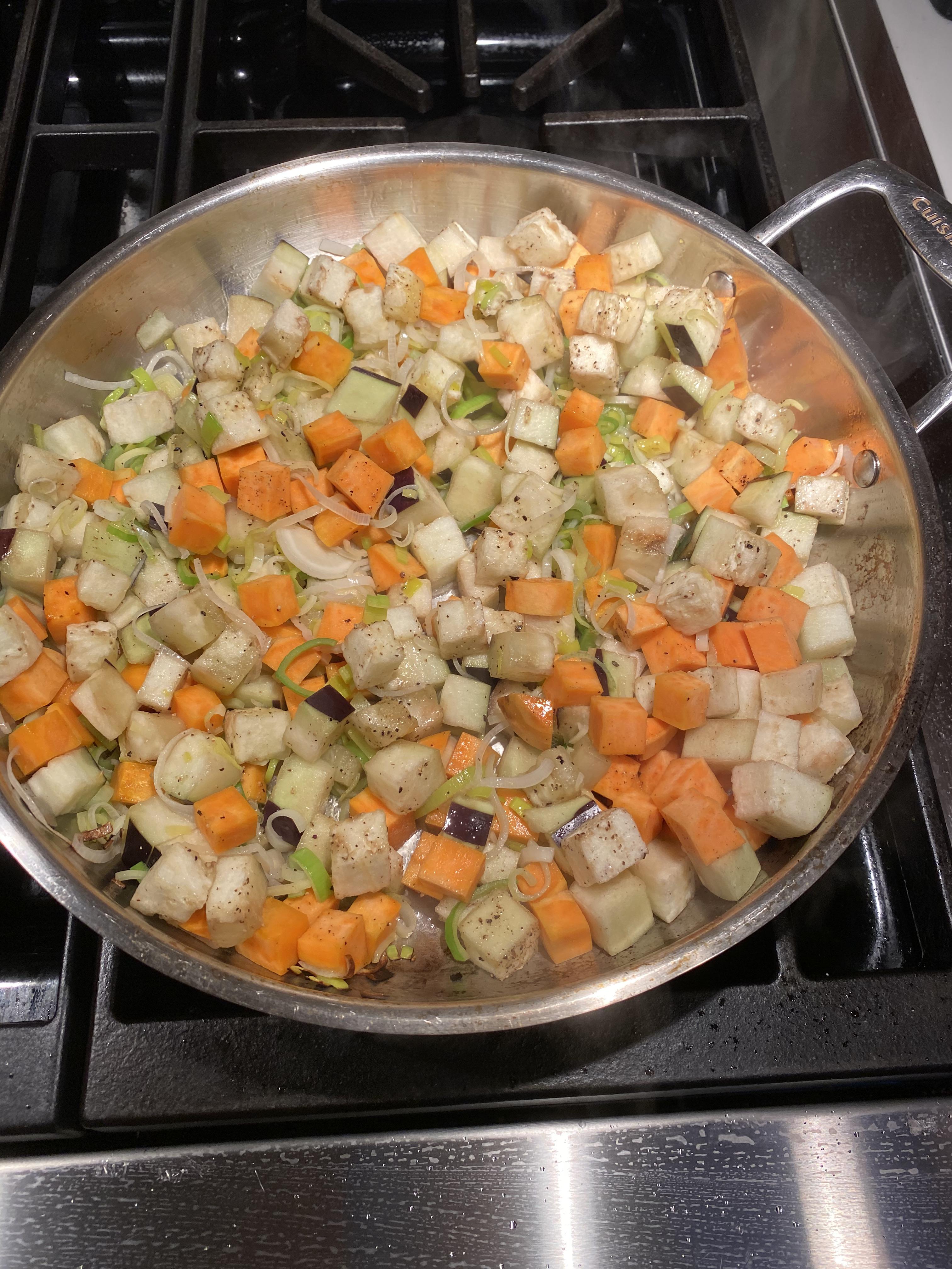 veggies in skillet